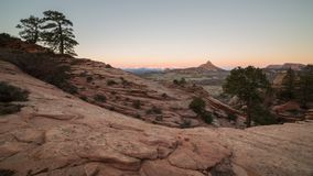 Pays de slickrock du ` s de l'Utah dans la lumière d'hiver de predawn Images libres de droits