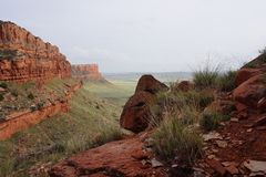 Pays de Trou-dans-le-mur du ` s du Wyoming Photos libres de droits