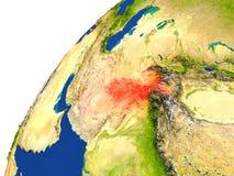 Pays de vue de satellite de l'Afghanistan Photo libre de droits