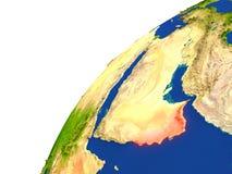 Pays de vue de satellite de l'Oman illustration libre de droits