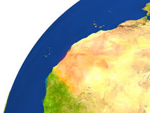 Pays de vue de satellite de la Mauritanie Image stock