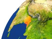 Pays de vue de satellite du Bangladesh Images stock