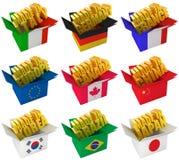 Pays producteurs illustration stock