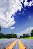 Pays-route Photographie stock libre de droits