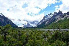Paysage à l'intérieur du parc national de visibilité directe Glaciares, EL Chaltén, Argentine Images stock