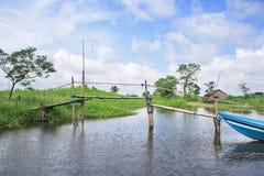 Paysage à la région d'Ayeyarwaddy dans Myanmar Photos stock