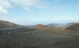 Paysage à Lanzarote image libre de droits