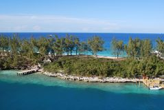 Paysage à Nassau, Bahamas photographie stock libre de droits