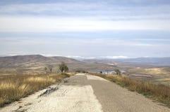 Paysage à proximité du monastère de David-Gareja photos libres de droits