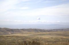 Paysage à proximité du monastère de David-Gareja photos stock