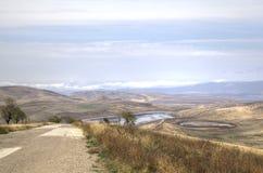 Paysage à proximité du monastère de David-Gareja images stock