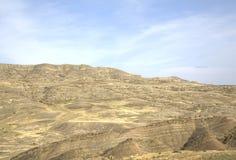 Paysage à proximité du monastère de David-Gareja photographie stock