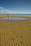 Paysage écossais de plage Photos stock