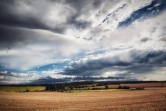 Paysage écossais nuageux images stock