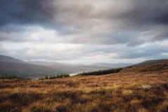 Paysage écossais une heure d'or images libres de droits