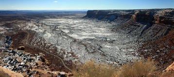 Paysage élevé de plaines de désert Photos stock