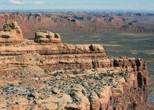 Paysage élevé de plaines de désert Image stock