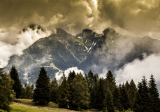 Paysage émotif de montagne Image libre de droits