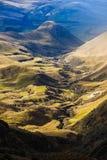 Paysage équatorien andin, où le soulagement et l'érosion peuvent être image libre de droits