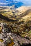 Paysage équatorien andin, où le soulagement et l'érosion peuvent être photos stock
