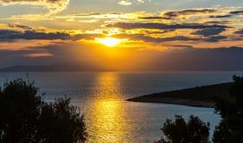 Paysage étonnant à la mer photo stock
