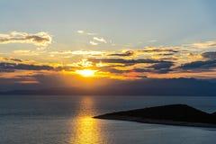 Paysage étonnant à la mer photos libres de droits
