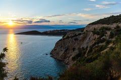 Paysage étonnant à la mer images libres de droits