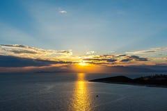 Paysage étonnant à la mer photographie stock