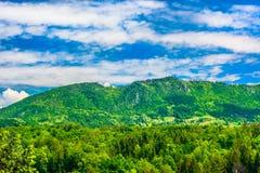 Paysage étonnant dans Zagorje, Croatie du nord Photos libres de droits