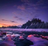 Paysage étonnant de nuit Beau fond de nature photos libres de droits