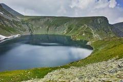 Paysage étonnant du lac eye, les sept lacs Rila Photographie stock libre de droits