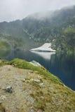 Paysage étonnant du lac eye, les sept lacs Rila Image stock