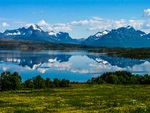 Paysage étonnant en Norvège images stock