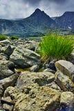 Paysage étonnant près des sept lacs Rila Photographie stock