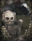 Paysage 2 de Veille de la toussaint illustration stock