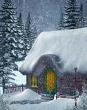 Paysage 4 de l'hiver Photos libres de droits