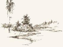 Paysage illustration stock