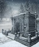 Paysage 9 de l'hiver Photos libres de droits