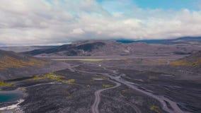 Paysage aérien islandais banque de vidéos