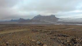 Paysage aérien volcanique islandais clips vidéos