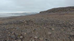 Paysage aérien volcanique islandais banque de vidéos