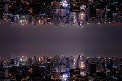 Paysage abstrait de ville de miroir photo libre de droits