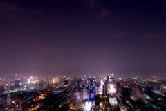 Paysage abstrait de ville de tache floue de mouvement image libre de droits