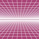 Paysage abstrait de wireframe de vecteur illustration libre de droits