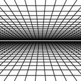 Paysage abstrait de wireframe de vecteur illustration de vecteur