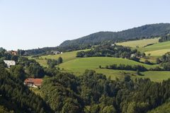 Paysage de Hilly Black Forest photos stock