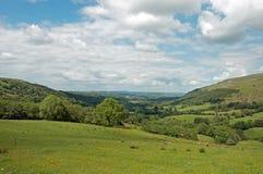 Paysage agricole dans les balises de Brecon du Pays de Galles Photographie stock libre de droits