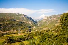 Paysage albanais, montagnes Images stock