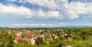 Paysage allemand près de Breisach - Baden-Wurttemberg photo libre de droits