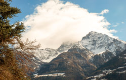 Paysage alpestre Aosta, Italie photographie stock